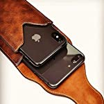 SmartPoint Genuine Leather Double Mobile Pouch Belt Clip Cases Bag Pack for Xiaomi Redmi 9 Power – Brown (2 Pocket for 6…