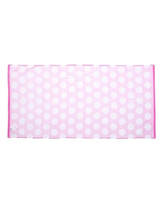 C3060P Polka Dot Velour Beach Towel Carmel Towel Company