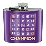 Bingo Champion Stainless Steel 5oz Hip Drink Kidney Flask
