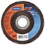 Norton Blaze R980P Abrasive Flap Disc, Type 29, Threaded Hole, Fiberglass Backing, Ceramic Aluminum Oxide, 7'' Dia., 40 Grit (Pack of 1)