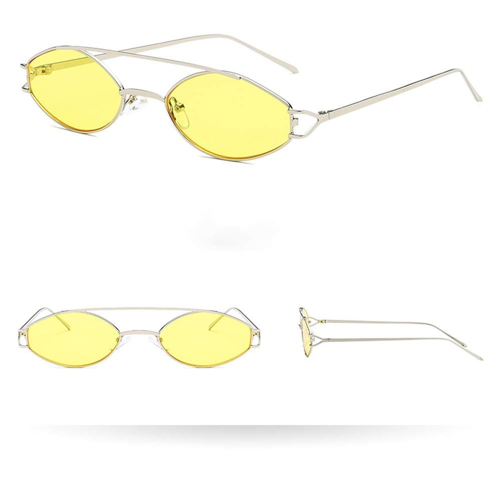 Molyveva Retro Vintage Circle Style Sunglasses Colored Small Metal Frame
