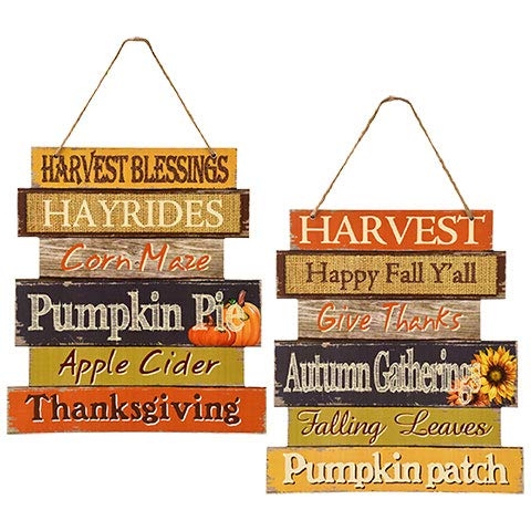 Fall Decoration Hanging Indoor Outdoor Lightweight Welcome Wood Sign