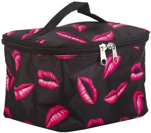 World Traveler Pink Lips Cosmetic Makeup Case