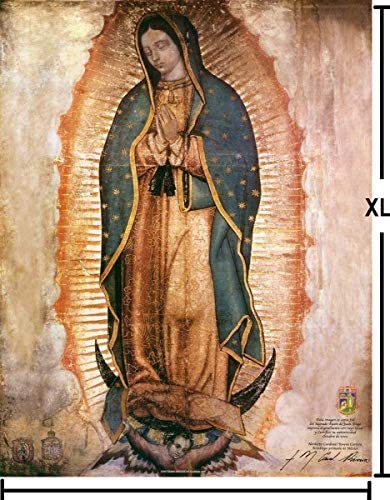 3dRose DPP/_60684/_1 Photo of Painting of Our Lady of Guadalupe Wall Clock 10 x 10