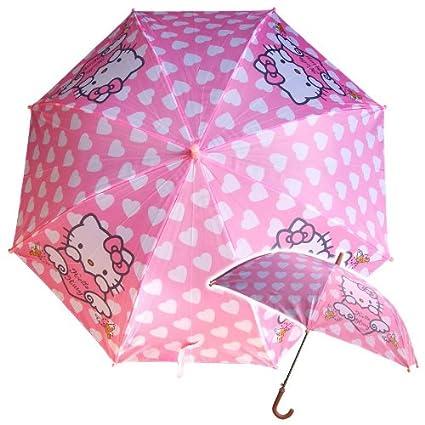 Hello Kitty niños paraguas Ø 66cm paraguas lluvia girls rosa y blanco del corazón del corazón