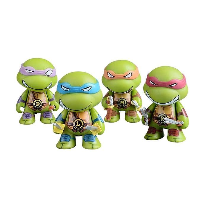 Q Versión 4 Piezas Set Tortugas Ninja Figuras De Acción ...
