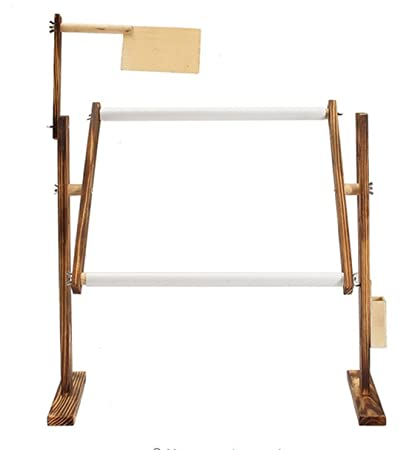 Amazon Com Solid Wood Cross Stitch Rack Adjustable Wooden Stand