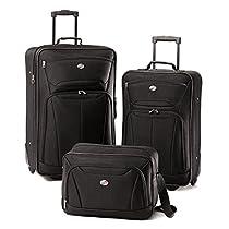American Tourister Luggage Fieldbrook II 3 Piece Set, Black,