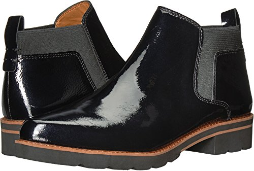 Franco Sarto Women's Bringham Black Crinkle Patent 7.5 M US (Franco Boots Sarto Women Leather)