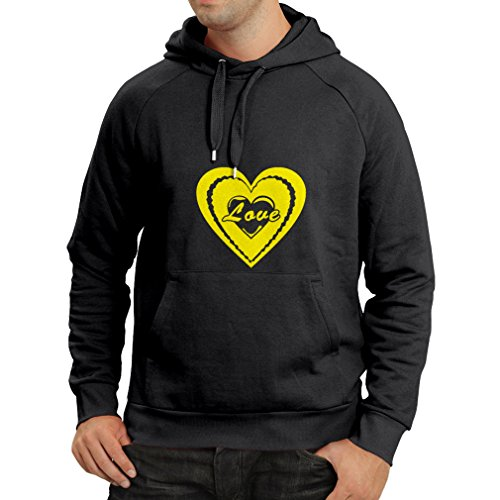 lepni.me HoodieI Love You - Valentines Day Quotes Great Gifts (Small Black Yellow)