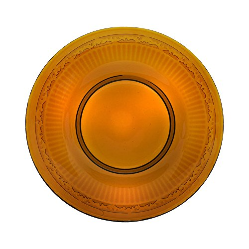Mikasa Italian Countryside Amber Glass Salad Plate (8-3/4-Inch) (Plates Amber)