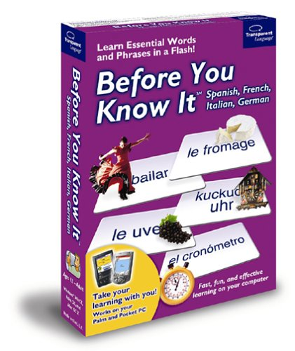 Before You Know It Multi Pack: Spanish, French, Italian and (French Pocket Pc Language)