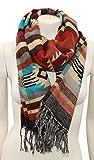 El Paso Designs Women's Shoulder Wrap Fringed Pashmina Shawl- 27''x72'' Southwest & Native American Style Shawls (Ruidoso)