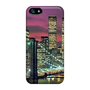 Protection Case For Iphone 5/5s / Case Cover For Iphone(moonset At The City)