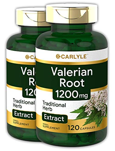 Carlyle Valerian Root Extract 1200 mg 240 Capsules | Non-GMO, Gluten Free | Highest Potency Per Capsule