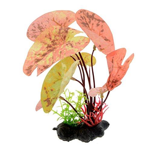 Saim Fake Plants Artificial Plants Aquarium Plants Pink Round Water Grass Decoration for Fish Tank ()
