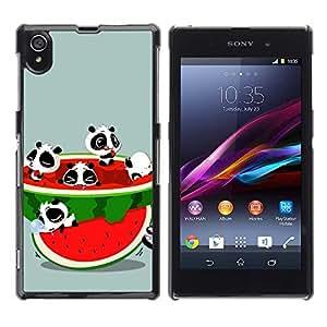 Be Good Phone Accessory // Dura Cáscara cubierta Protectora Caso Carcasa Funda de Protección para Sony Xperia Z1 L39 C6902 C6903 C6906 C6916 C6943 // Funny Cute Animals & Waterm