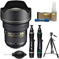 Nikon 14-24mm f/2.8G AF-S ED Zoom-Nikkor Lens with Tripod + Kit for D3200, D3300, D5300, D5500, D7100, D7200, D750, D810 Cameras