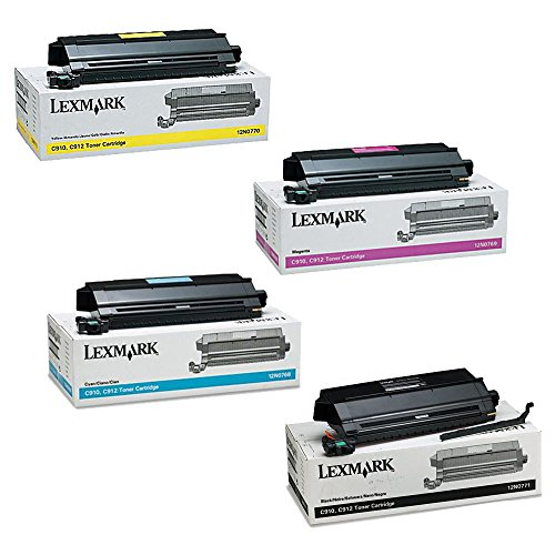 Lexmark C912 Standard Yield Toner Cartridge Set