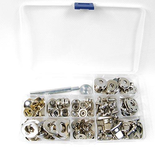 - Snaps, Lift The Dot & Turn Button Kit 52 Piece Set