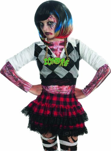 [Rubie's Costume Zombie Colorful Streaks Costume Wig, Multi, One Size] (Zombie Costume Ideas For Adults)