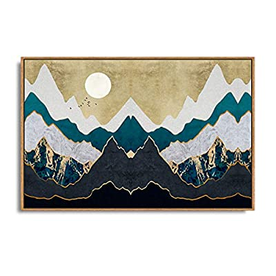 Handsome Design, Top Quality Design, Framed Home Artwork Abstract Mountain Nature Scenery for Living Room Bedroom