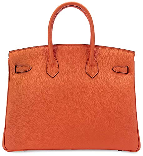 Women's Handbags Ladies Genuine Leather Handle Shoulder Handbags Strap Organizer Crossbody Handbags with Gold Hardware by GAOAG (Image #1)
