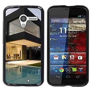TopCaseStore / la caja del caucho duro de la cubierta de protección de la piel - Architecture Modern Pool House - Motorola Moto X 1 1st GEN I XT1058 XT1053 XT1052 XT1056 XT1060 XT1055