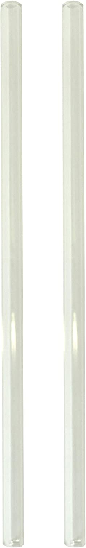 int/érieur /Ø 8 mm Ullmannglass Pailles en Verre Borosilicate r/ésistant /à la Chaleur Longueur 20 cm ext/érieur /Ø 4 mm