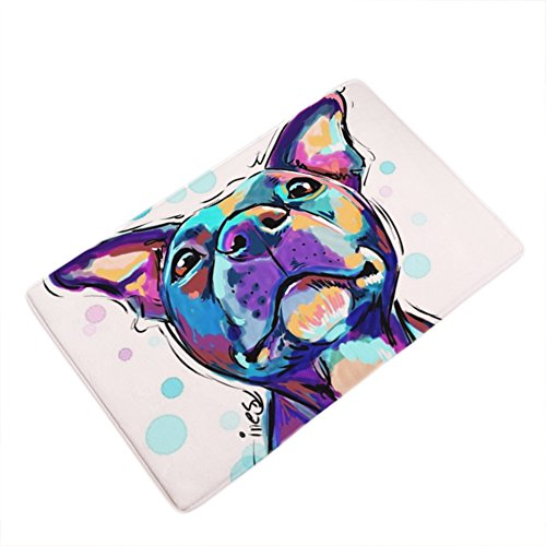 Entrance Kit - LANGUGU Home Garden Non-Skid / Slip Rubber Back Kitchen Mat Bath Rug Entrance Mat Golden retriever Dog Watercolor Machine Washable Indoor Outdoor Hallway Carpet