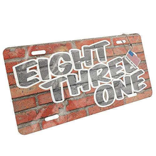 Metal License Plate 831 Santa Cruz, CA brick - - 831 Ga