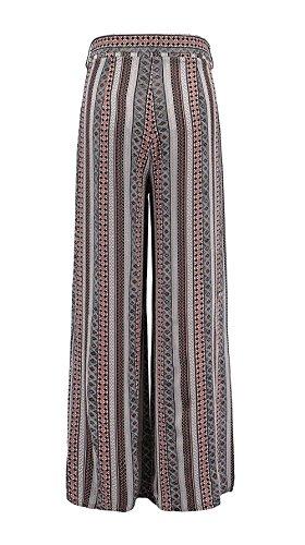 Estivi Vintage Tempo Stampato Pantaloni Larghi Baggy Comodo Inclusa Waist Elegante Pantaloni High Semplice Libero Leggero Palazzo Farbe Pantaloni Pantaloni Moda Lunghe Donna Cintura Glamorous Spiaggia ZwzA88qX