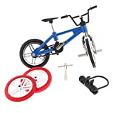 Homyl Miniature Metal Extreme Sports Finger Bicycle Mountain Bike Model Boy Toys Creative Game Gift With Accessory - Blue