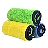 840GSM Microfiber Car Cleaning Cloths,Car Drying Towel Dual Layer Ultra-Thick Microfiber Polishing Waxing Drying Cleaning Towel Car Polishing and Drying Cloth Auto Detailing Towel(3-Pack;15x17.7in)