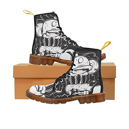 Street Women Boots Rat Crazy Art For cat Night abstract Up Lace Print InterestPrint at C7wn0