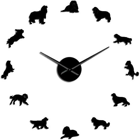 Amazon Com Rqjope Diy Wall Clock Cavalier King Charles Spaniel 3d Frameless Diy Large Mute Wall Clock Dog Pet Puppy Shop Wall Art Decor Modern Giant Clock Watch Christmas Birthday Present Home