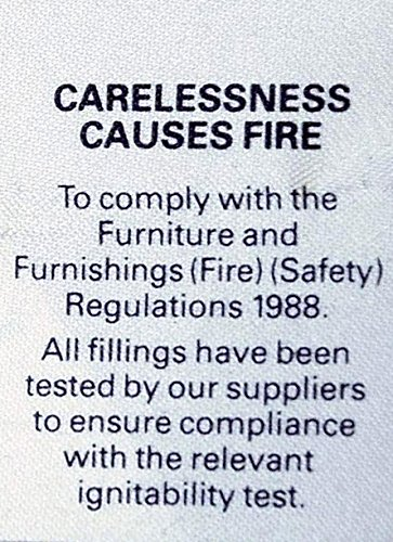carlessness causes fire labels pack of 10 amazon co uk kitchen