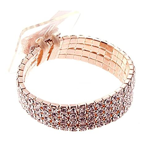Corsage Creations Rock Candy Corsage Bracelet Rose Gold