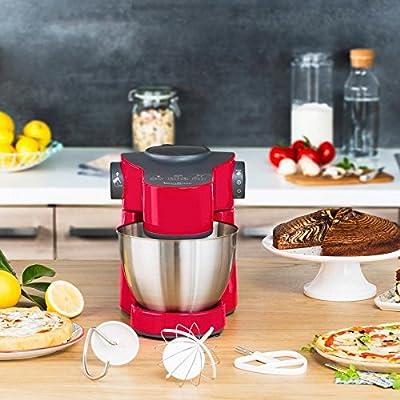 Moulinex QA3015B1 - Robot de cocina (4 L, Negro, Rojo, Plata, 1 L, Batir, Mezcla, Acero inoxidable, 700 W): Amazon.es: Hogar