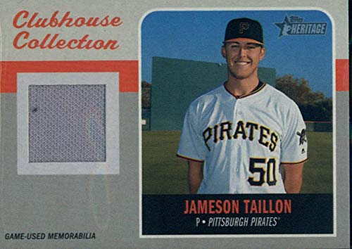2019 Topps Heritage Clubhouse Collection Relics #CCR-JT Jameson Taillon MEM Pirates Baseball MLB from Heritage Products