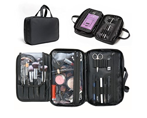 Makeup Organizer & Cosmetic Travelling Bag. Divided Compartm