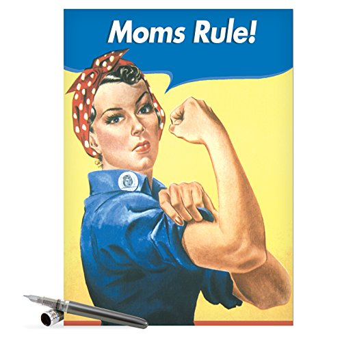 J0096 Jumbo Funny Mother's Day Card: Moms Rule With Envelope (Extra Large Version: 8.5'' x 11'')