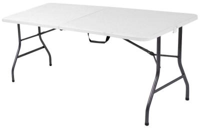 Cosco 6 ft. White Speckle Center Fold Table-14678WSP1​ - The Home Depot