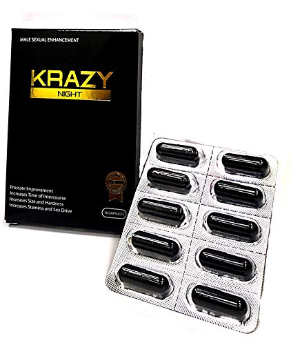 Krazy Night Black 10 Capsules Best Male Enhancing Natural Performance Capsules New Premierzen Most Effective Natural Amplifier for Performance, Energy, and Endurance