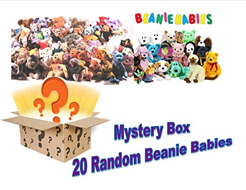 Lot of 20 Randomly Assorted NEW Ty Beanie Babies - Great Mix of Different Types of Animals from TY