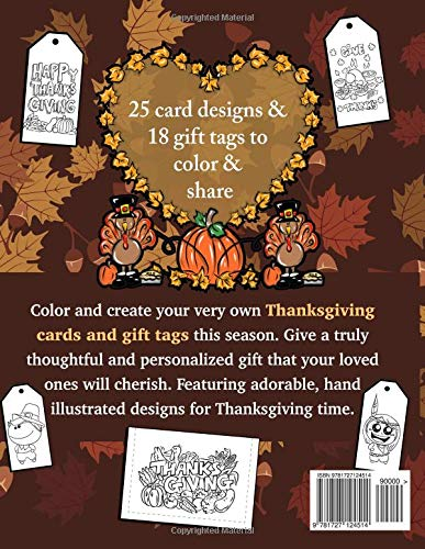 thanksgiving cards gift tags create color and share your own