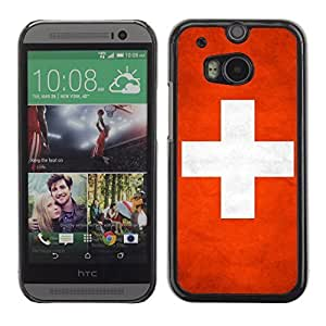 Shell-Star ( National Flag Series-Switzerland ) Snap On Hard Protective Case For All New HTC One (M8)