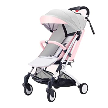 QZX Cochecito de bebé Cochecito de bebé Plegable Cochecito de bebé Cochecito de Viaje para niños de 0 a 36 Meses de Colores Diferentes,Pink: Amazon.es: ...