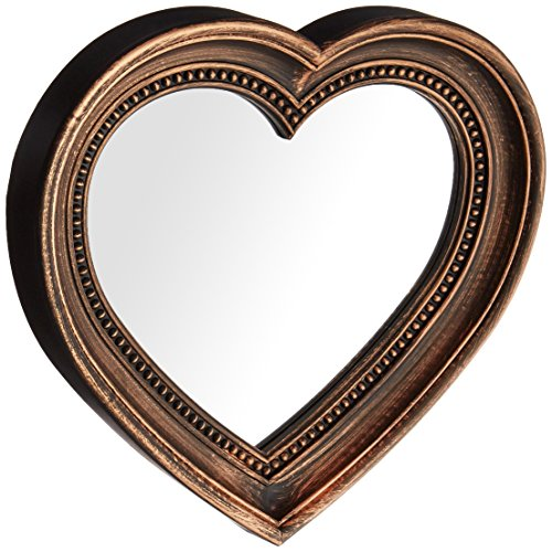 Kole Antique Bronze Heart Shaped - Mirror Heart Shape
