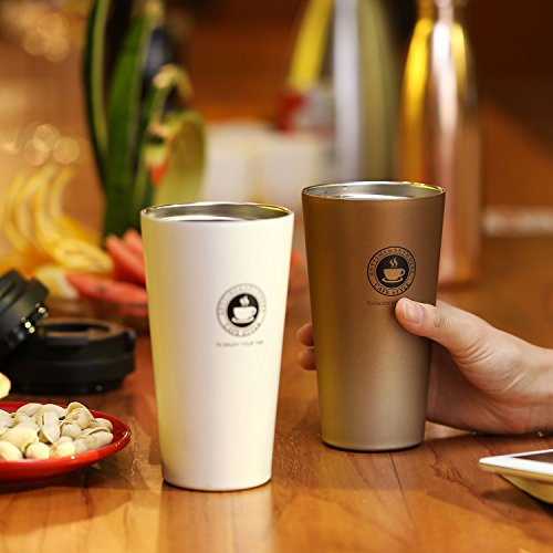 Home / portable Stainless Steel Coffee Mug Insulation / cold Beer Cup acuum Insulated Double-Walled 18/8 Stainless Steel Hydro Travel Mug Coffee color 17OZ (500ml) by SEPT MIRACLE (Image #8)
